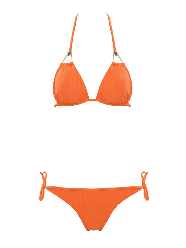 Orange two piece swimsuit