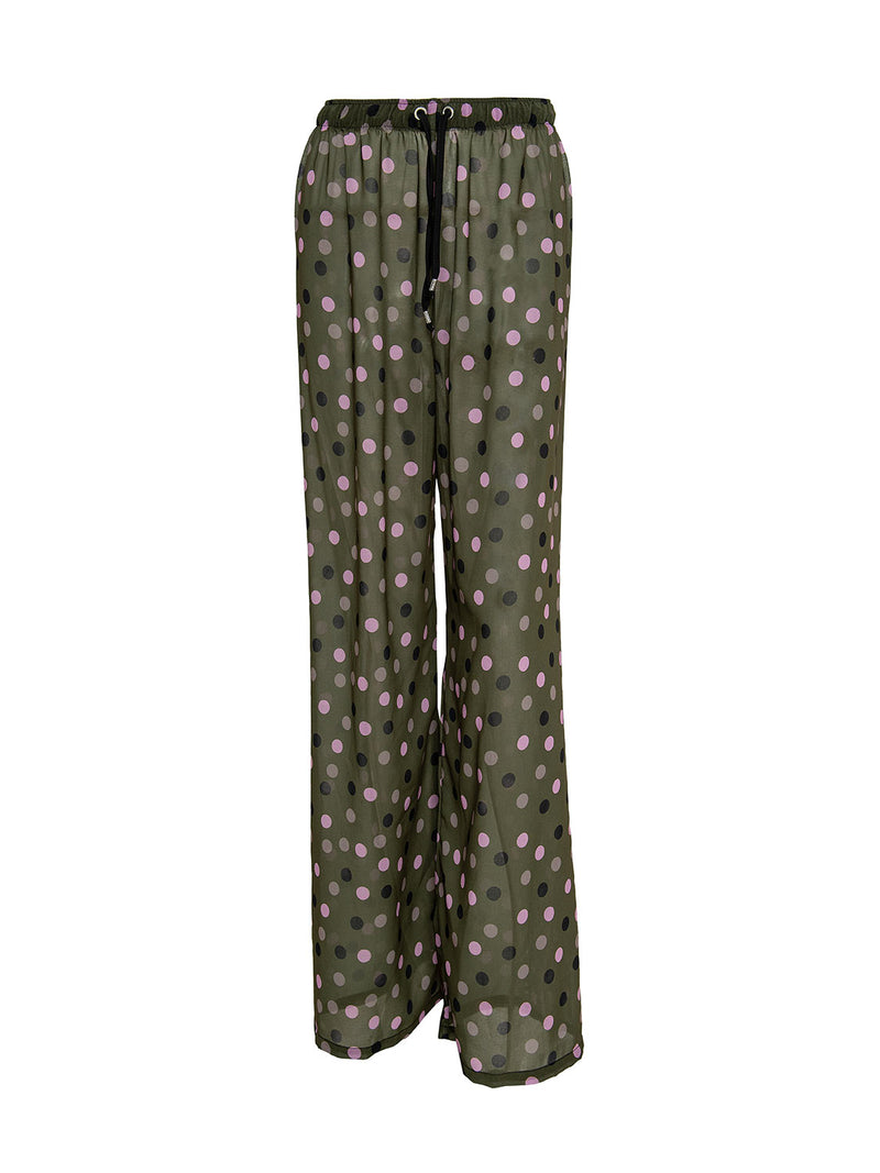 polka dot beach trousers