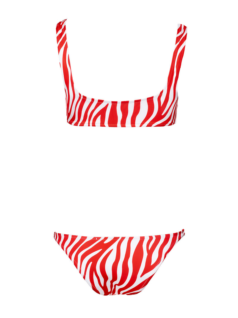 Two piece swimsuit KAMILA In Red And White