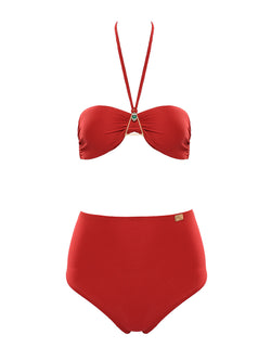 Red swimsuit two piece