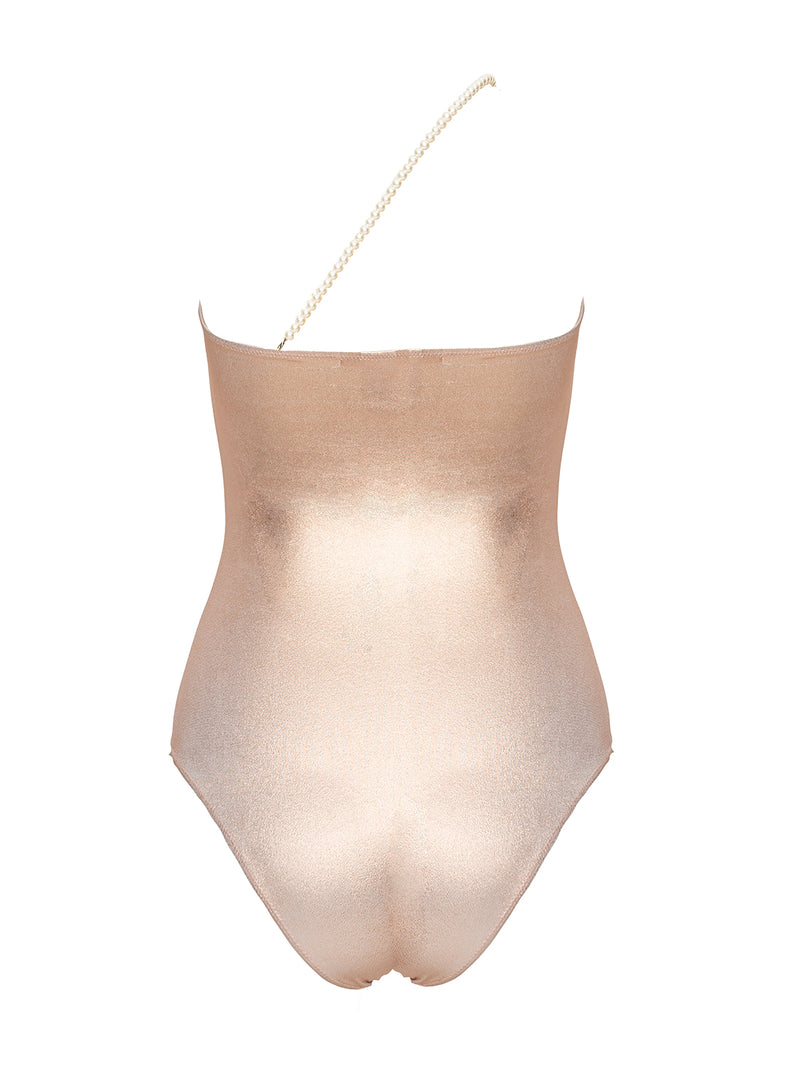 Rose gold one piece swimsuit