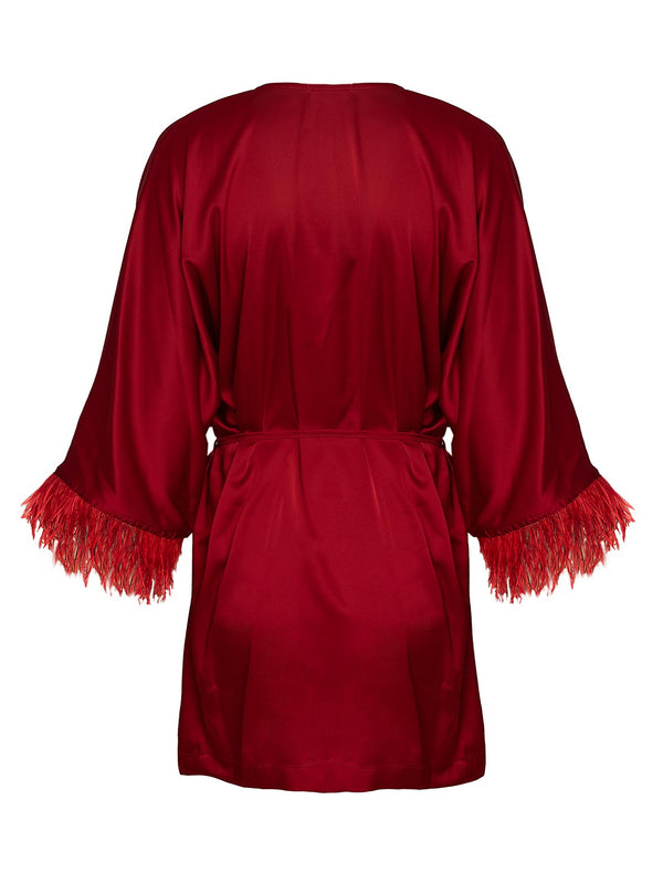 satin beach kaftan