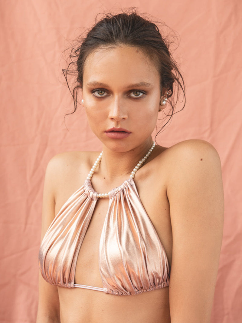 Two Piece Swimsuit Nicky In Rose Gold Color