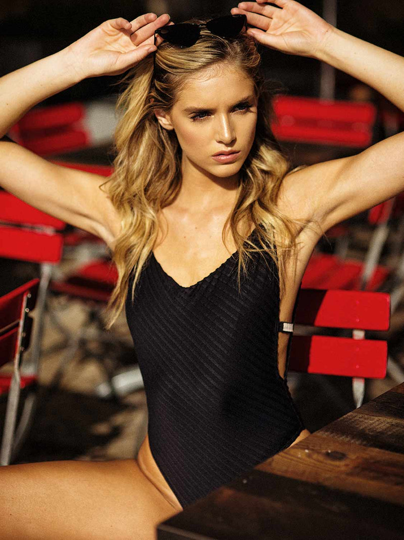 swimsuit one piece black