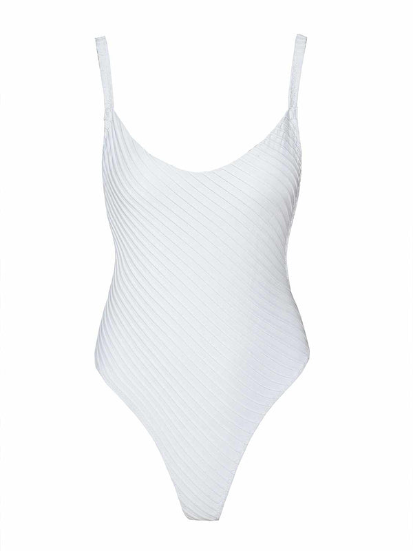Swimsuit white one piece