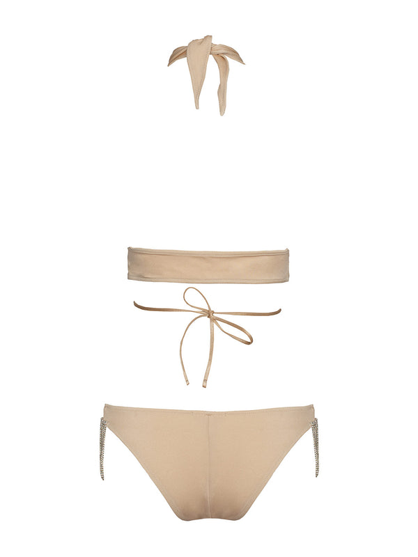 TWO PIECE SWIMSIUT LEONE IN CHAMPAGNE COLOR