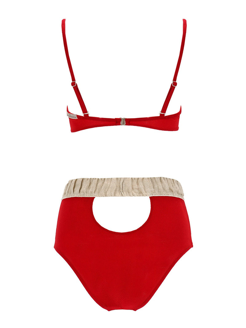 Two piece high waisted swimsuit