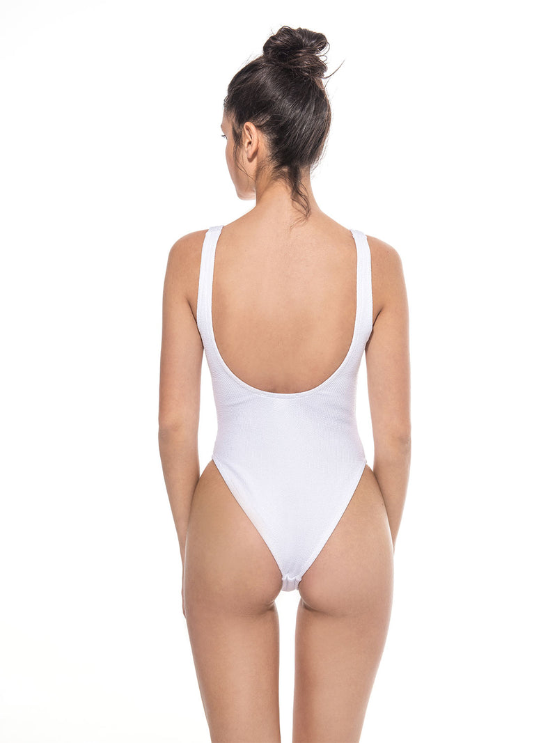 white one piece swimsuit one size