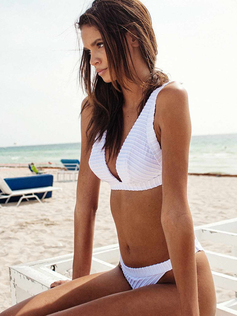 White swimsuit two piece