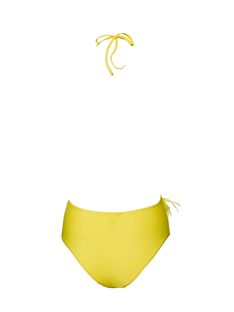 Yellow swimsuit one piece