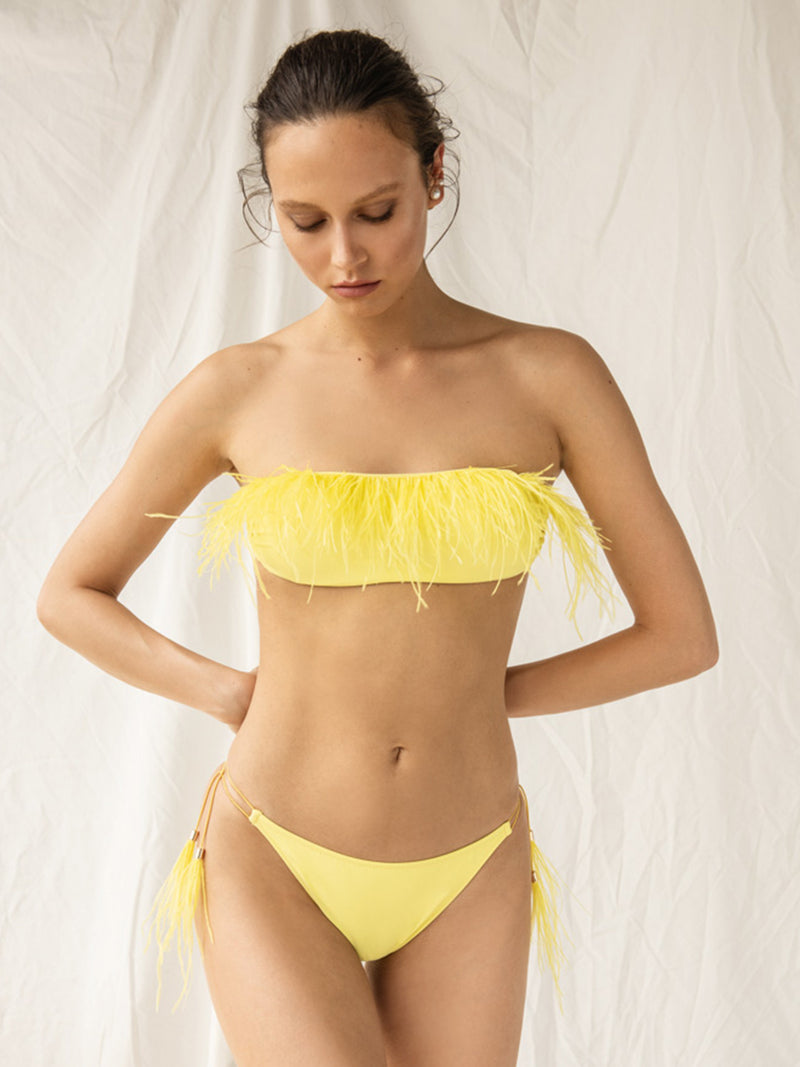 Two Piece Swimsuit Sonya In Yellow Color
