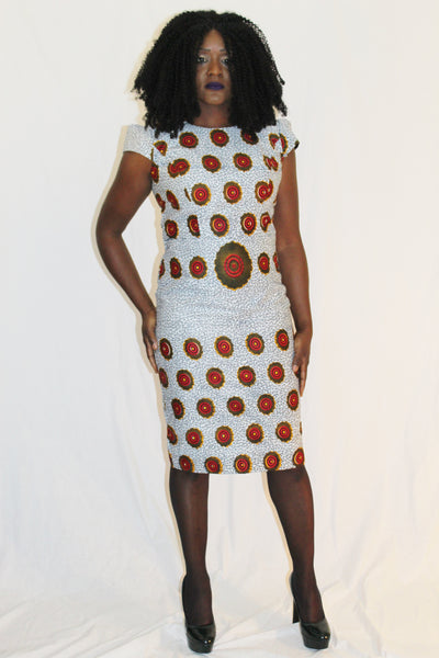Robe classe africaine, robe wax, robe pagne africain