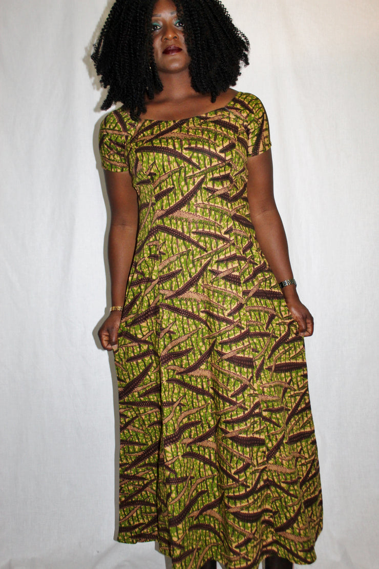 Robe longue africainewax, robe wax, robe pagne africain, dupsies