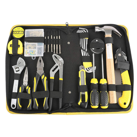 126 PCS Tool Set, General Portable Hand Tools Set With Plastic Tool Box Storage Case