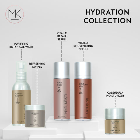 Hydration Collection skincare products by Mikel Kristi Skincare