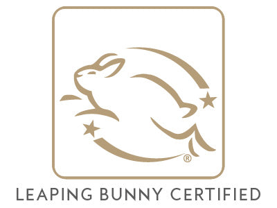 Mikel Kristi Skincare Leaping Bunny Certified Badge Gold