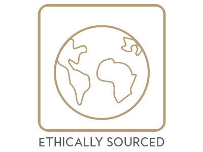 Mikel Kristi Skincare Ethically Sourced Badge Gold