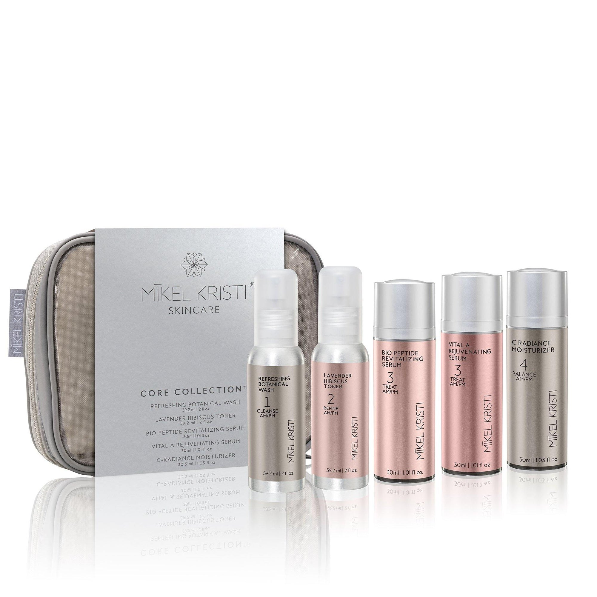 Mikel Kristi Skincare Core Collection Daily Skincare  Regimen