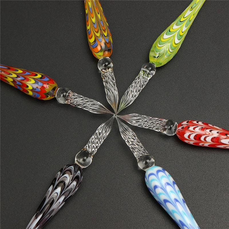 7 Colors Mandala Glass Dip Pen - Handmade Dipping Pen