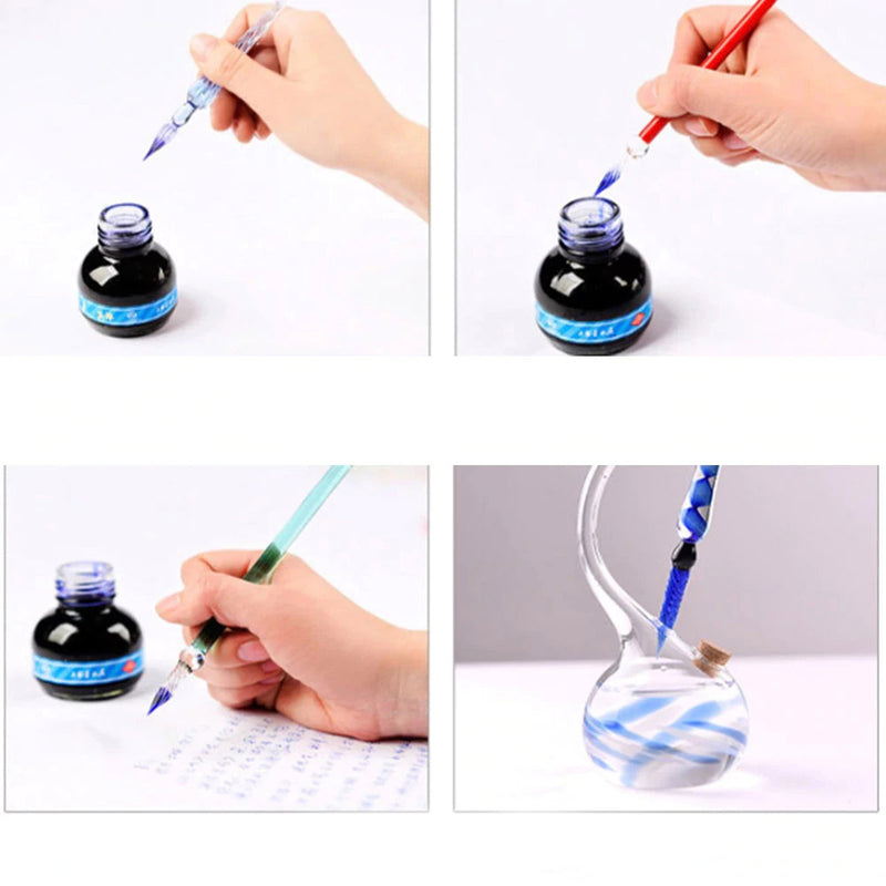 Classic Glass Dip Pen Holder