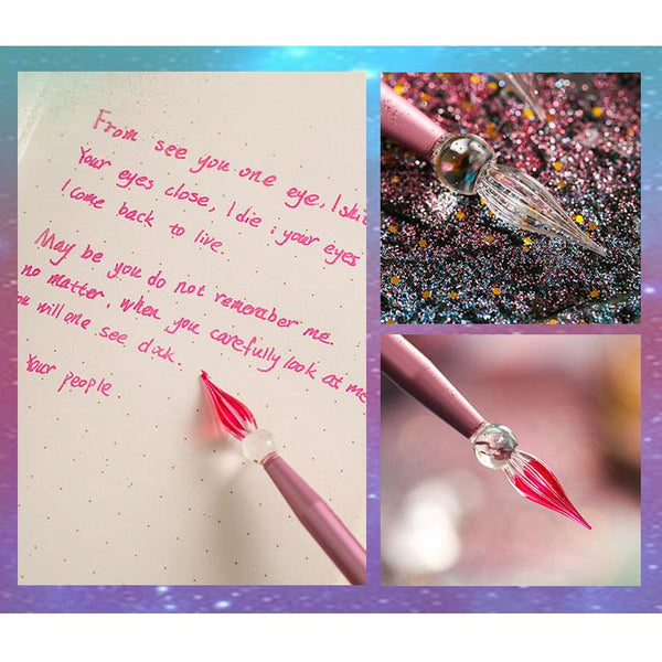 Mermaid Glass Dip Pen - Handmade Glass Pen for Calligraphy