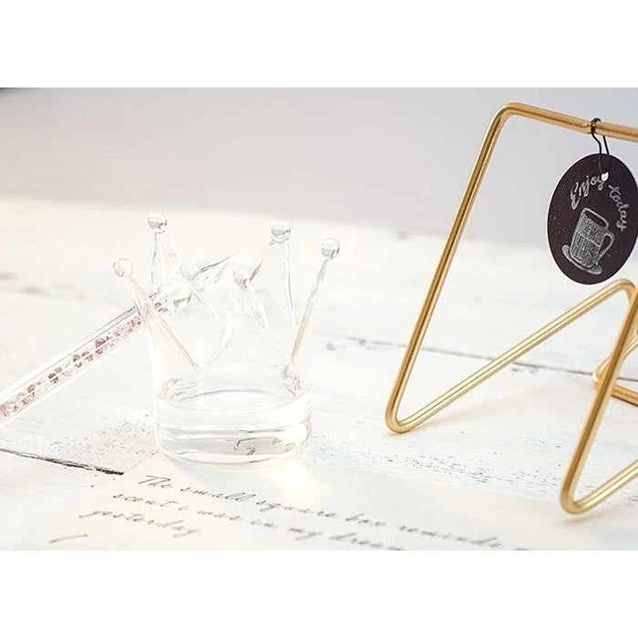 Crown Glass Dip Pen Holder