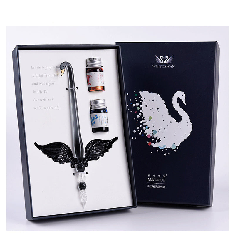 Swan Glass Dip Pen