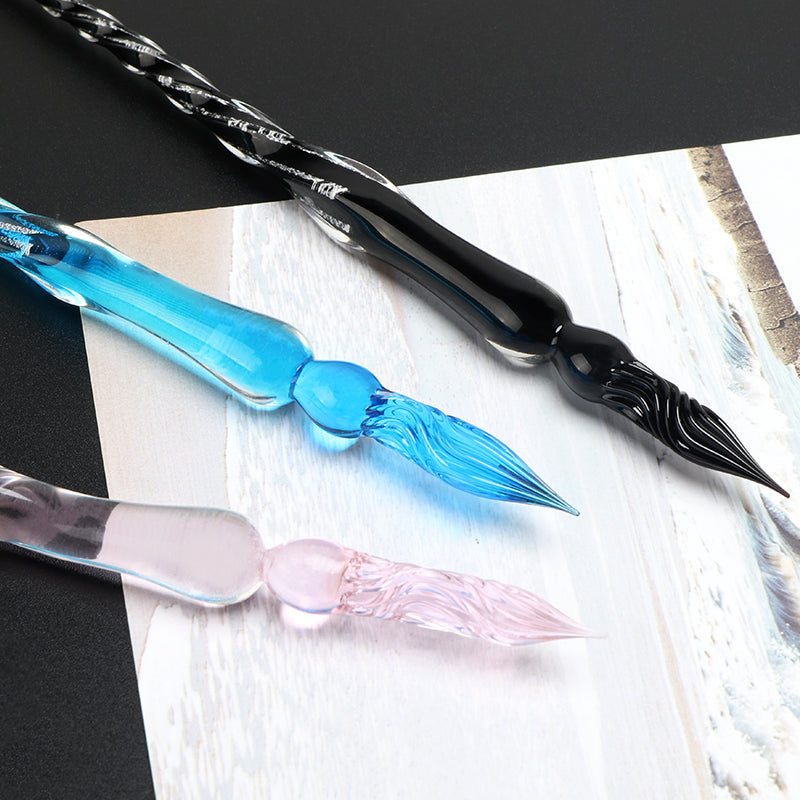 Ice Age Glass Dip Pen with Inks
