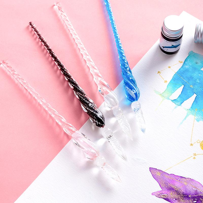 Snowflake Glass Dip Pen