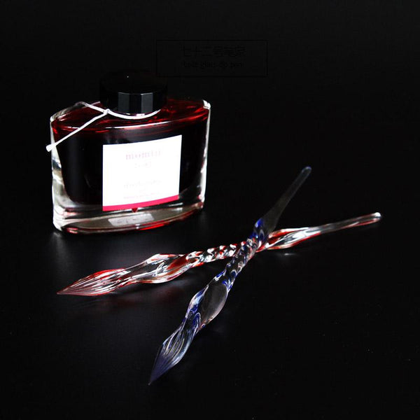 The Soulmate glass dip pen with ink gift set