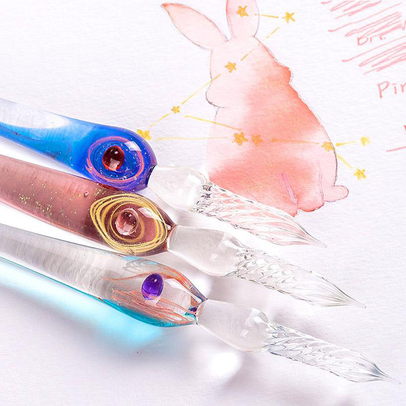 The Constellation Series - Pisces glass dip pen