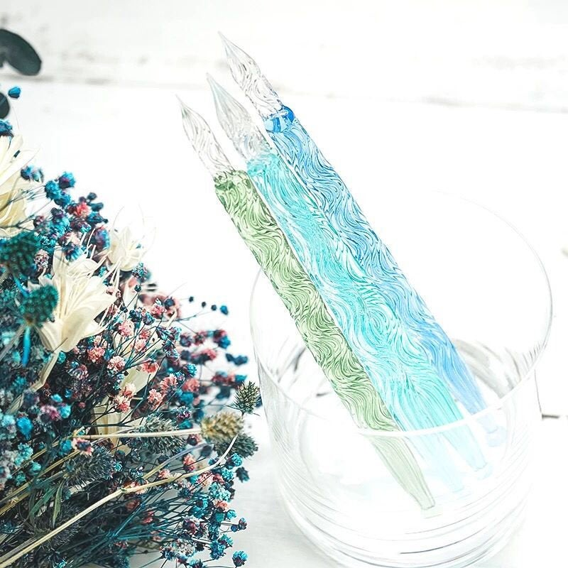 Water Wave Glass Dip Pen