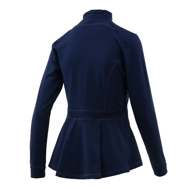 Pleated Jacket - Navy
