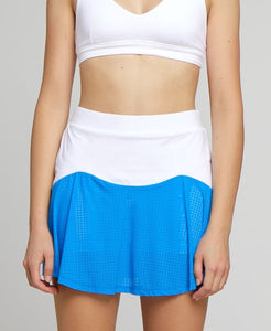 Performance Team Skort - White/Blue