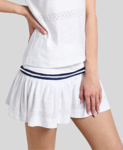 Lace Skort - White/Navy