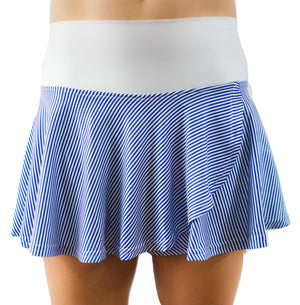 Holly Skort - Blue Seersucker