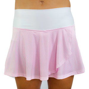 Holly Skort - Pink Seersucker