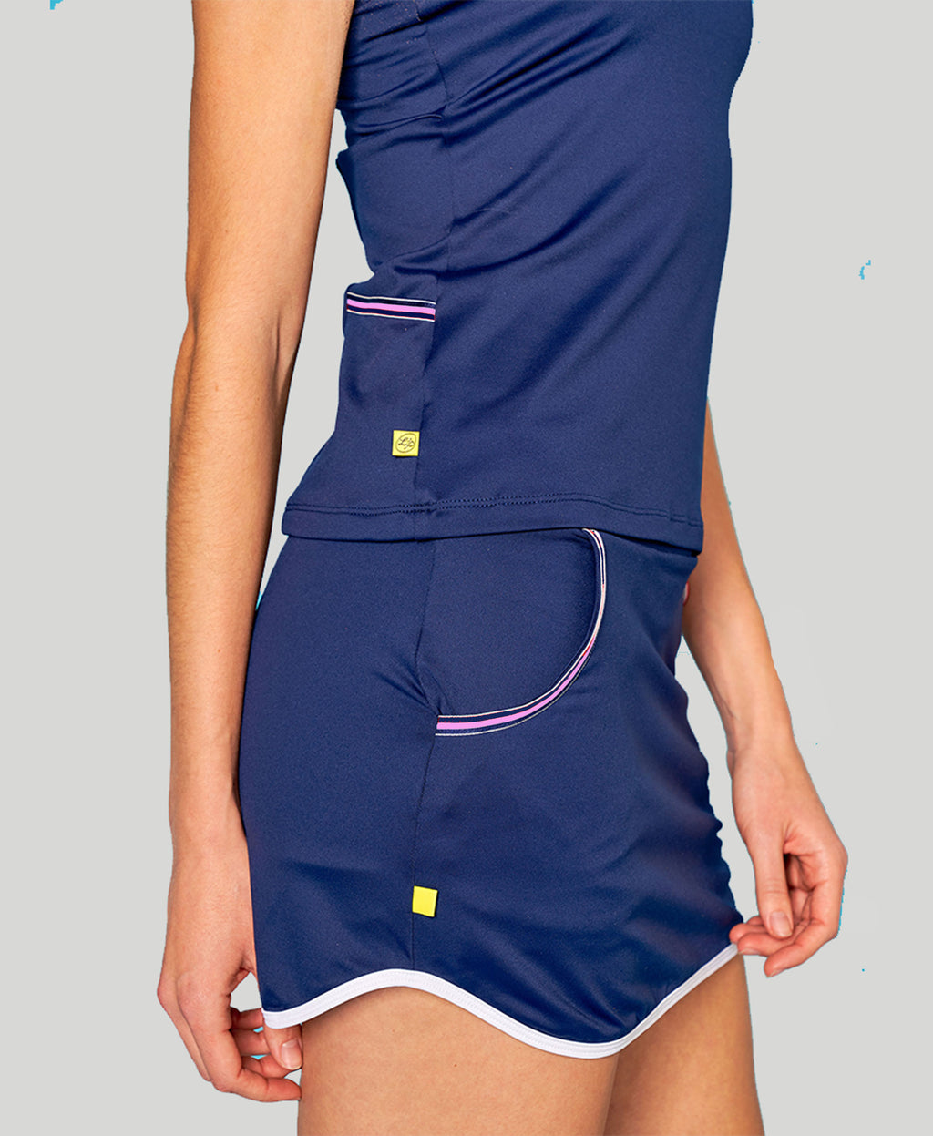 Baseline Pocket Skort - Navy - Pink/Blue