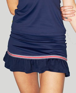 Baseline Flutter Skort - Navy - Red/White/Blue
