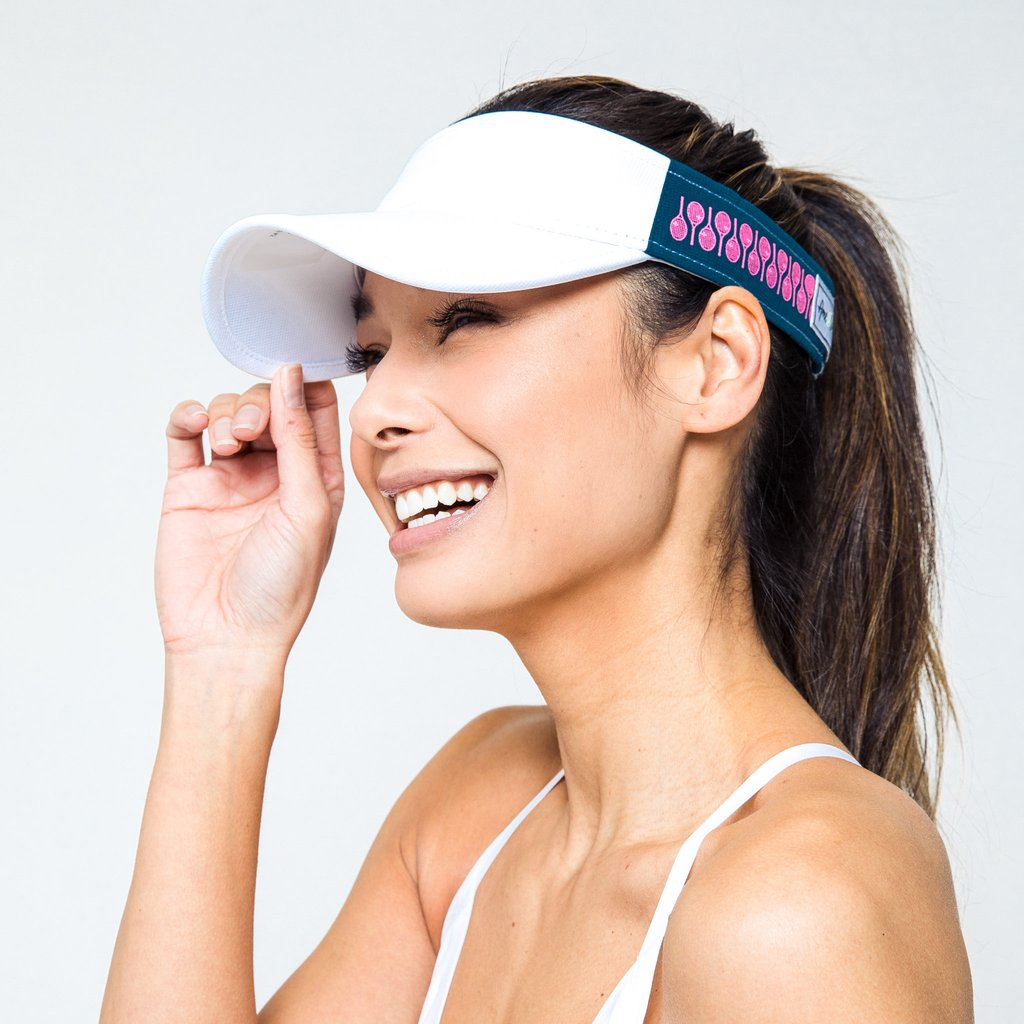Head in the Game Visor - Navy/Pink