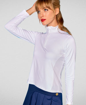 Breezy Half-Zip Pullover - White