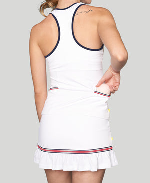 Baseline Pocket Racerback - White - Red/White/Blue