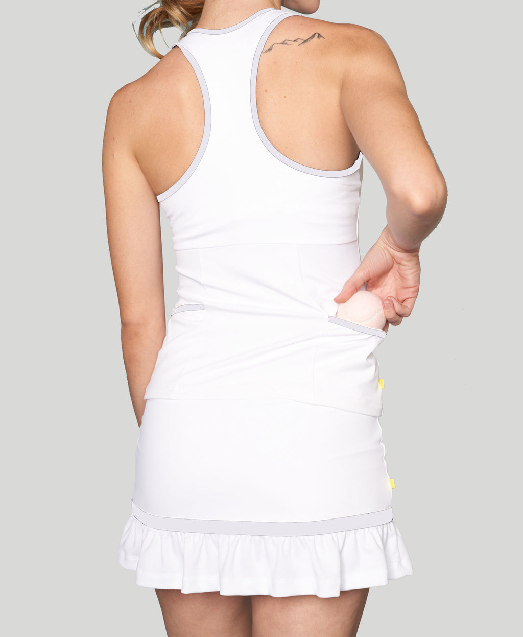Baseline Pocket Racerback - White