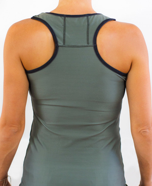 SPF Piped Racerback - Military