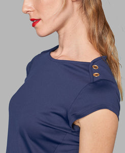 Nautical Boatneck - Navy