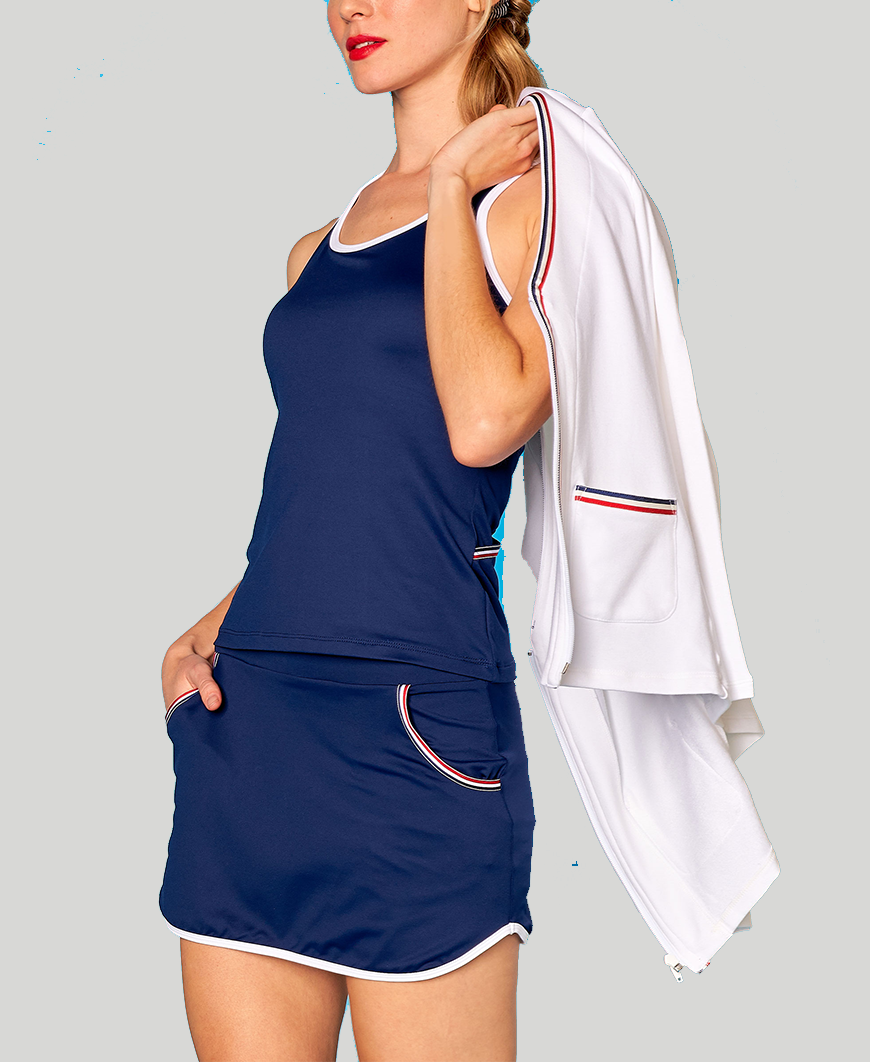 Baseline Pocket Skort - Navy - Red/White/Blue