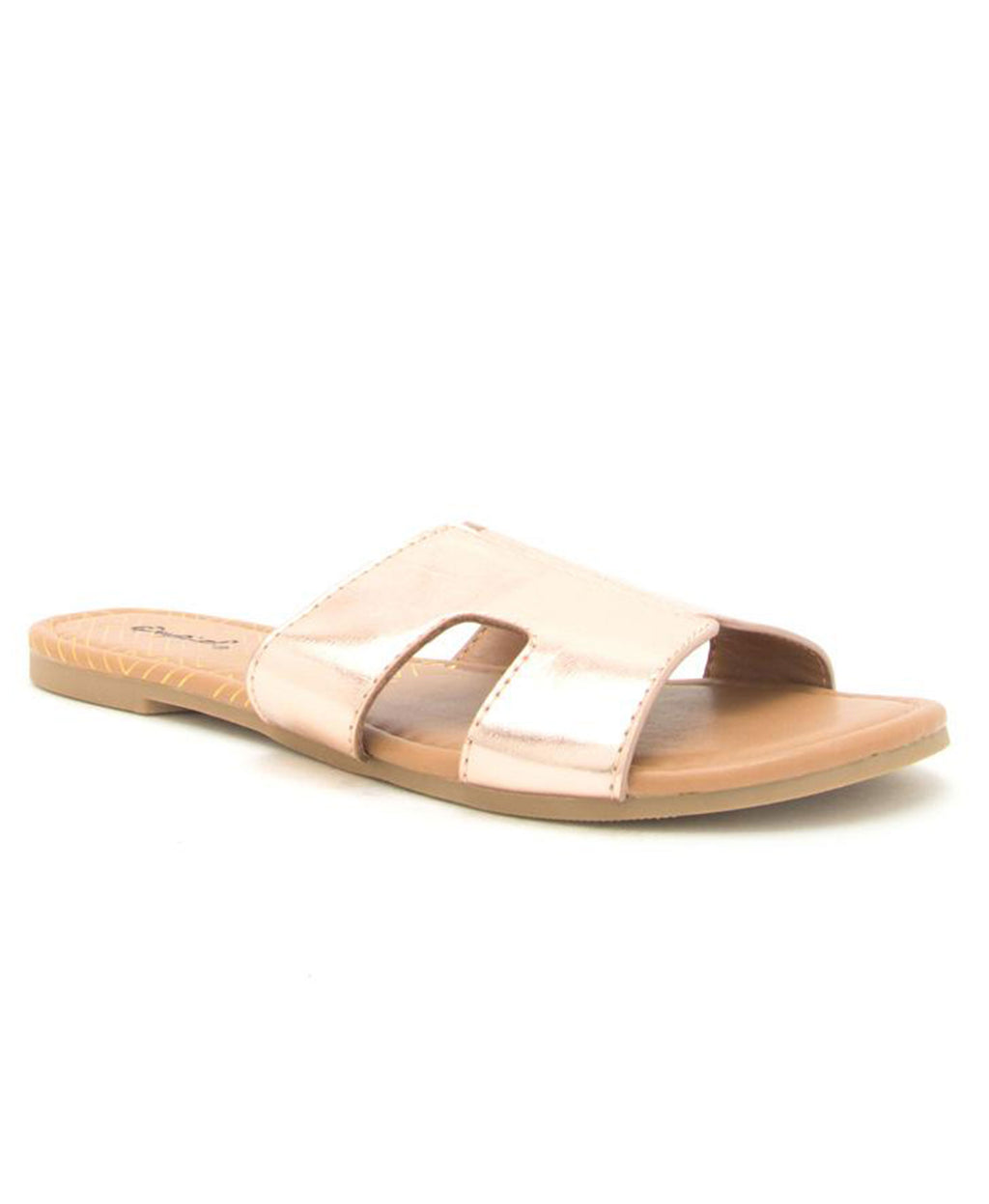 Archer Slide Sandal - Rose Gold