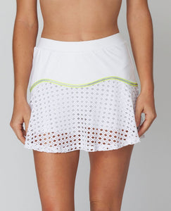 Pointelle Team Skirt - Neon Lace