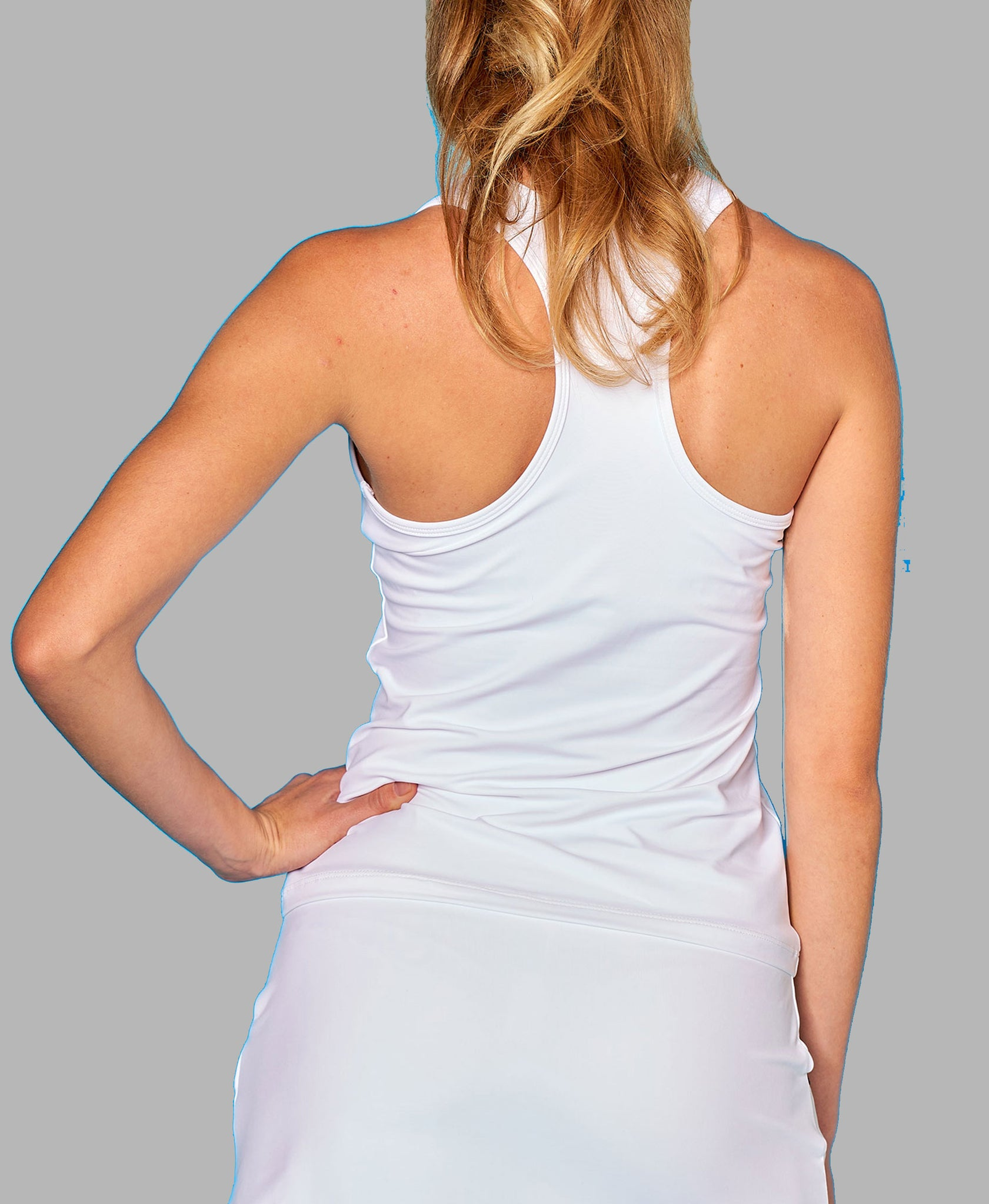 Nautical Bow Racerback - White