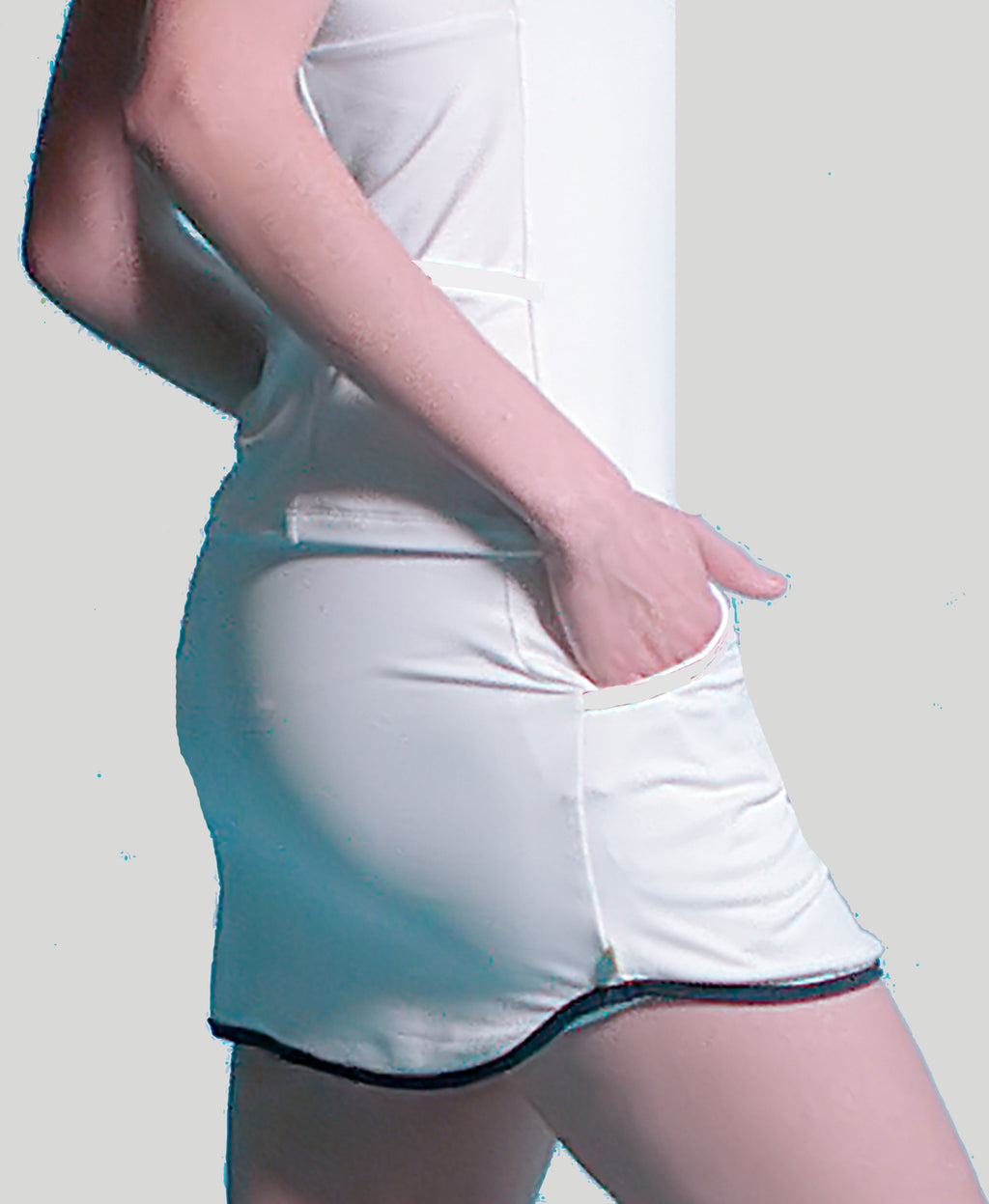 Baseline Pocket Skort - White